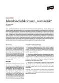 """Policy Paper: Islamfeindlichkeit und """"Islamkritik"""""""