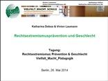 Rechtsextremismusprävention und Geschlecht. Tagung: Rechtsextremismus Prävention & Geschlecht. Vielfalt_Macht_Pädagogik