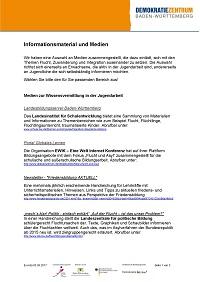 """Informationsmaterial und Medien zu """"Flucht, Zuwanderung und Integration"""""""