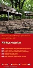 Würdiges Gedenken. Informationen der Mobilen Beratung für Opfer rechter Gewalt. Nummer 41, Frühjahr 2013