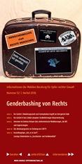 Informationen der Mobilen Beratung für Opfer rechter Gewalt Nr. 52. Herbst 2016. Genderbashing von Rechts