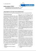 """mobim-analysen, 07/2013 """"Dieses Ergebnis ist noch lange nicht die ,Machtübernahme'"""" Abschneiden extrem rechter Parteien bei der Bundestagswahl am 22.09.2013 im Regierungsbezirk Münster"""