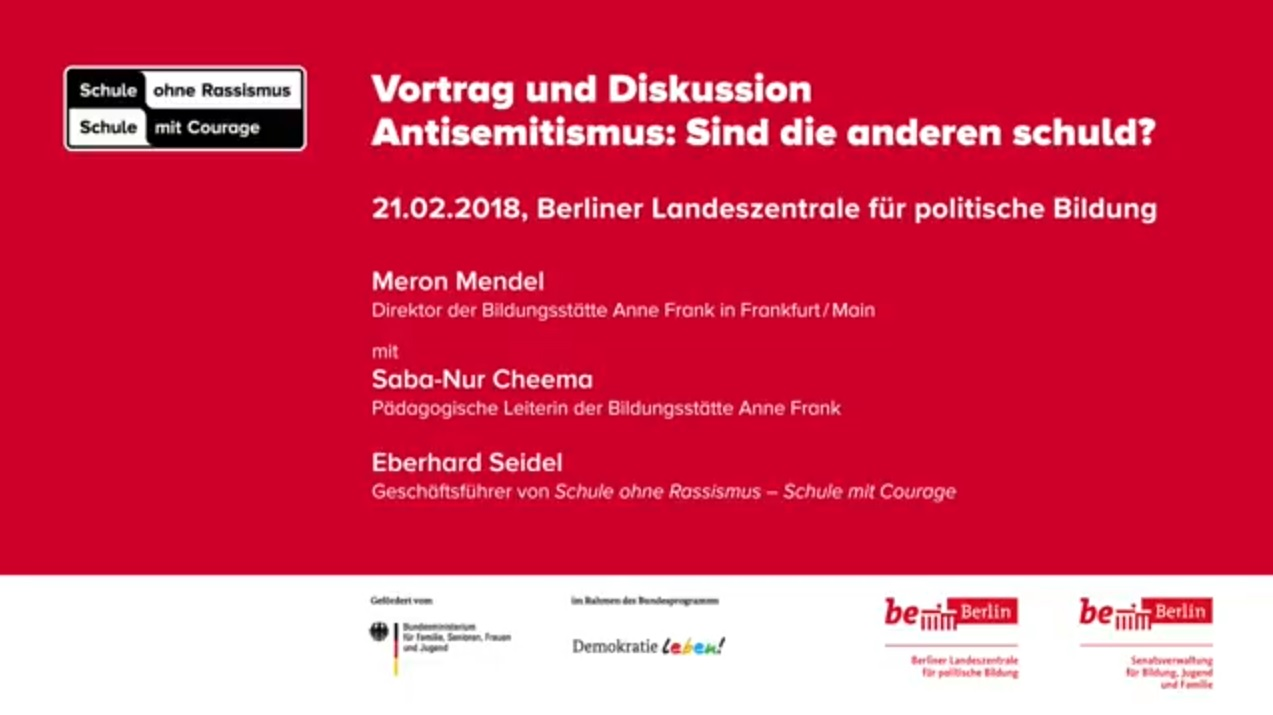 Meron Mendel über antisemitismuskritische Bildungsarbeit