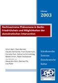 Rechtsextreme Phänomene in Berlin-Friedrichshain und die Möglichkeiten der demokratischen Intervention